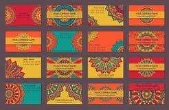 конструкции легко editable 3 собрания визитной карточки индийский тип Бесплатная Иллюстрация