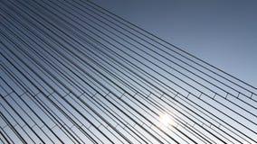 Конструкции стальных веревочек моста на предпосылке неба стоковые изображения rf
