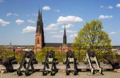 1270 1435 конструкций собора закончили начатую работу uppsala Стоковые Изображения RF