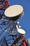 Конструкция башни радиосвязей с антеннами Стоковые Изображения