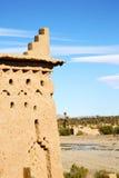 Конструкция Брайна старая в oasi Африки Стоковая Фотография RF