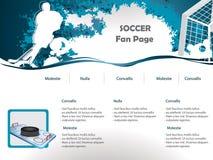 Конструкция вебсайта хоккея Стоковое Изображение