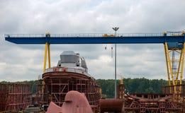 Конструкция военного корабля Стоковое Фото