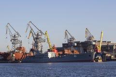 Конструкция военного корабля Стоковое фото RF
