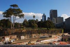 Конструкция вокруг оперного театра Сиднея Стоковые Фотографии RF