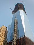Конструкция всемирного торгового центра, Нью-Йорк Стоковая Фотография