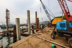 Конструкция в гавани Галле, Шри-Ланке Стоковая Фотография RF