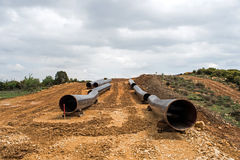 Конструкция газопровода в Греции Стоковые Изображения RF