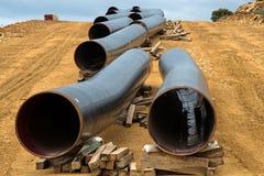Конструкция газопровода в Греции Стоковые Фото