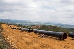 Конструкция газопровода в Греции Стоковая Фотография RF