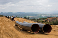 Конструкция газопровода в Греции Стоковое Изображение RF