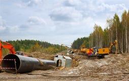 Конструкция газопровода Стоковое Изображение