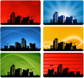 конструкция города визитной карточки Стоковая Фотография
