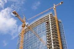 конструкция делового центра новая стоковое фото