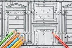 конструкция детализирует интерьер Стоковые Изображения RF