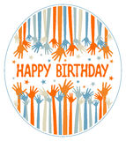 конструкция дня рождения вручает счастливое Иллюстрация штока