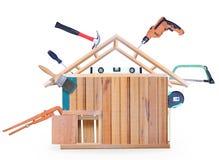 Конструкция дома деревянная иллюстрация штока