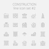 конструкция легкая редактирует комплект изображения иконы для того чтобы vector Стоковое Изображение