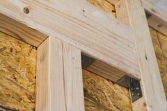 Конструкция деревянных стен рамки нового места загородного дома ООН Стоковые Изображения