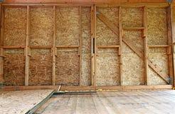 Конструкция деревянных стен рамки Стоковая Фотография RF