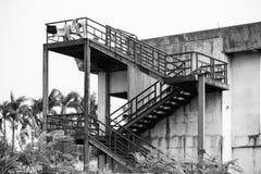 Конструкция лестницы металла Стоковые Изображения