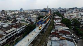 Конструкция железной дороги двойного следа Стоковая Фотография