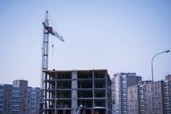 Конструкция жилого дома высотного здания Стоковая Фотография RF