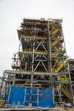 Конструкция завода на обрабатывать hydrocarbonic сырья стоковые фотографии rf
