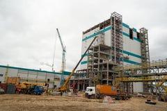 Конструкция завода на обрабатывать hydrocarbonic сырья стоковые фото