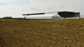 Конструкция залы фабрики объекта Land Rover ягуара в Nitra, Словакии Стоковое Фото