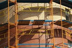 конструкция здания кирпича вниз Стоковая Фотография RF