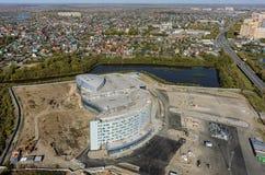 Конструкция здания aquapark Tyumen Россия Стоковые Фото