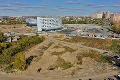 Конструкция здания aquapark Tyumen Россия Стоковые Изображения
