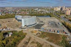Конструкция здания aquapark Tyumen Россия Стоковое Изображение