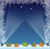 Конструкция зимы иллюстрация штока