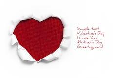 Конструкция знамени искусства в форме сердца в белой бумаге Стоковое Изображение