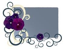 конструкция знамени флористическая Стоковое Фото