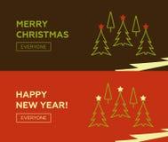 Конструкция знамен с Рождеством Христовым установленная Стоковое Изображение
