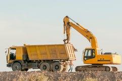 Конструкция и ремонт дорог и хайвеев Стоковая Фотография