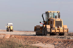 Конструкция и ремонт дорог и хайвеев Стоковое Изображение