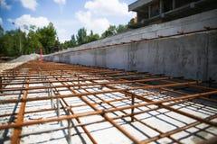 конструкция кирпичей кладя outdoors место конструкция здания новая Стоковые Фотографии RF