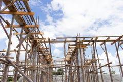 конструкция кирпичей кладя outdoors место Стоковая Фотография