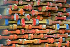 конструкция кирпичей кладя outdoors место Стоковые Фото