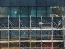 конструкция кирпичей кладя outdoors место Стоковое фото RF