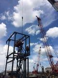 конструкция кирпичей кладя outdoors место Стоковое Фото