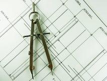 конструкция компаса Стоковое Фото