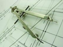конструкция компаса Стоковое Изображение RF