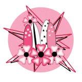 Конструкция конспекта эмблемы логоса магазина прибоя девушки серфера иллюстрация штока