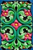 Конструкция красного цвета, зеленых и голубых флористическая стоковые фото