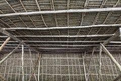 Конструкция крыши от листьев ладони стоковое изображение rf
